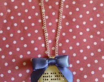 T S Eliot Quote Necklace -  Handmade, Unique