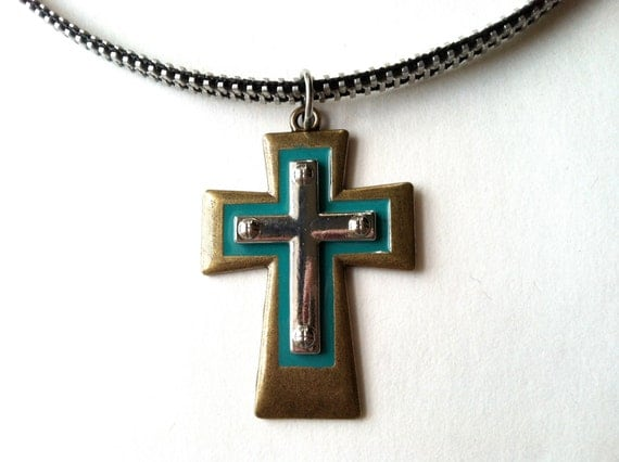 Friars Cross Zipper Necklace