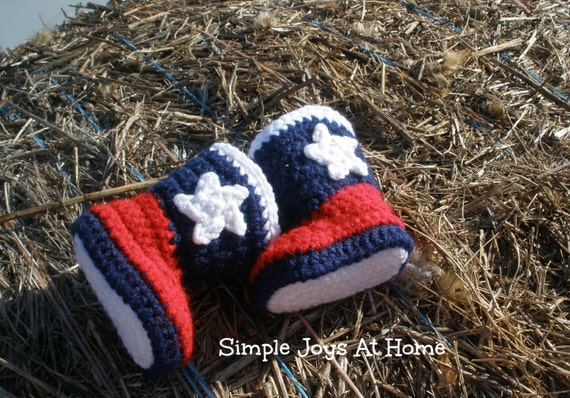 Texas Baby Crocheted Cowboy Boots