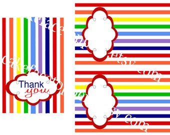 DIY rainbow tent cards.  Print as many as you want.