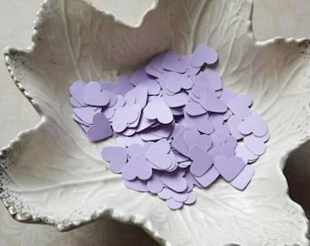Lilac Lavender Light Purple Paper Heart Confetti-500 Pieces-Weddings, Showers, Birthdays