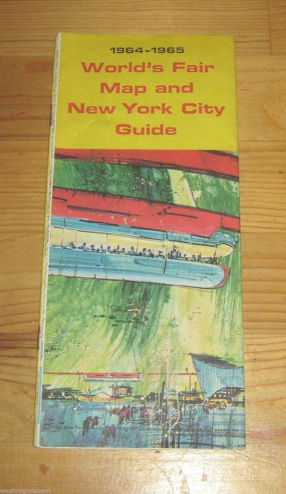 Vintage Souvenir Map 1964 World 39 s Fair and by KathysVintageItems