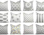 One Decorative Pillow Cover - Grey Pillow...