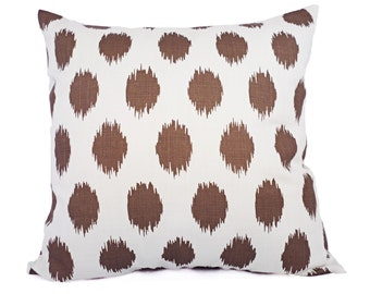 CLEARANCE One Brown Ikat Pillow Cover - Brown Throw Pillow Covers - Decorative Pillow Cushion Cover Brown Pillow Accent Pillow