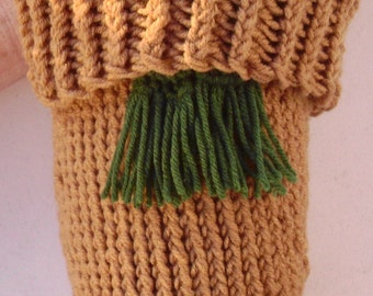 Kilt Garters  Traditional hand knit,    Medium Thyme Green