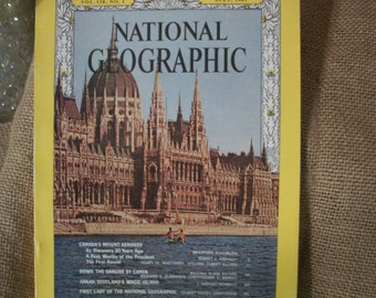 Vintage National Geographic Magazine Vol. 128. No. 1 July 1965