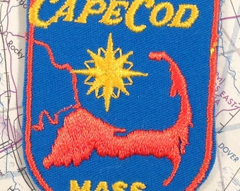 Cape Cod Massachusetts Vintage Travel Patch by Voyager