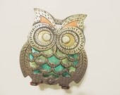 Vintage Owl Napkin Holder