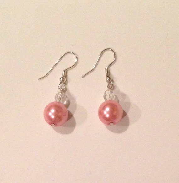 clear earrings for work items similar to earrings handmade jewelry white pearl 5813