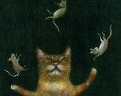 "Fine Art Print of an Original Animal Painting: ""Le Jongleur"""
