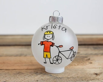 Biker Christmas Ornament - Personalized for Free
