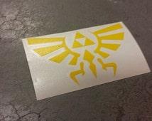 """4"""" Yellow Zelda Decal"""