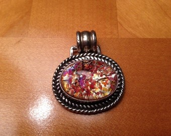 Sterling Silver Pendant With Beautiful Autumn Design