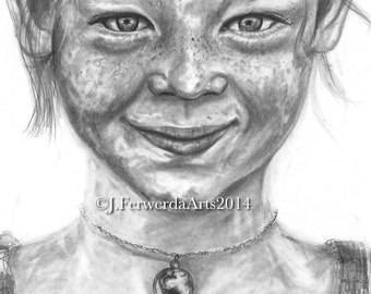 Pencil Drawing Print  - Hannah's Crazy Love - Day 44