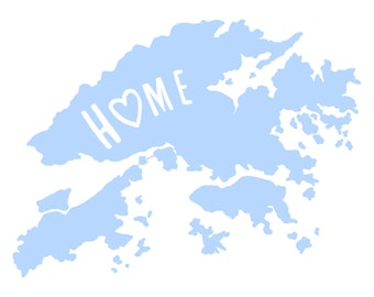 Hong Kong  - Home Love - 11x14 Typography Print