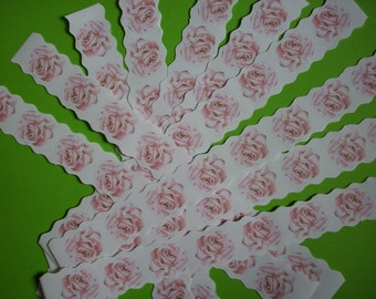 10 stickers stripes, roses (584)