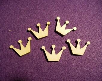 5 crowns, wood, 3 x 2cm (03-0004C)
