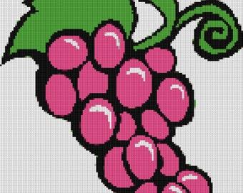 Grapes Cross Stitch Pattern
