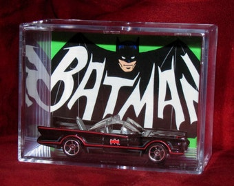 "Batman ""Batmobile"" collectible Car(Inspired)display / unique gift idea..ships out fast great addition to a Bats collection"