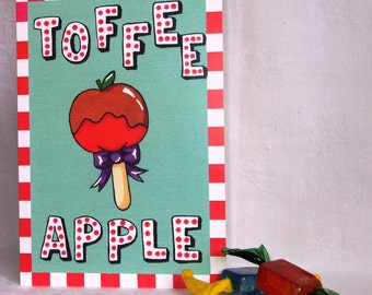 Candy Collection - Toffee Apple greeting card