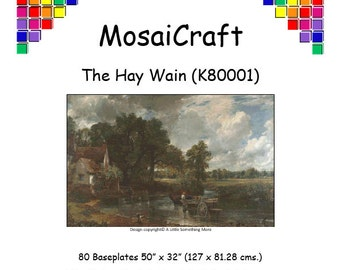 MosaiCraft Pixel Craft Mosaic Art Kit - 'The Hay Wain' (Like Mini Mosaic and Paint by Numbers)