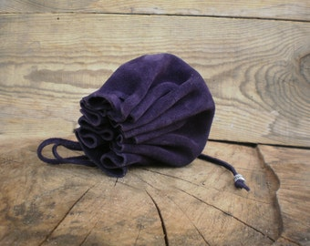 Suede pouch bag, Coin Purse, Leather pouch bag, Purple, Drawstring pouch, Bridesmaids, Tobacco and  key pouch, Money pouch, Jewelry box