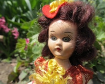 Doll 1950 s doll old and rare storybook doll very small doll from