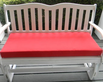"Indoor / Outdoor Foam Swing Bench Cushion 60"" X 18""- Choose Solid Color"