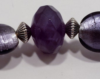 Lavender necklace & earring set.