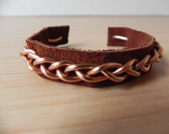 Braided Wire Bracelet (Copper)