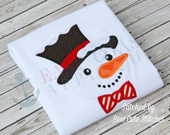 SNOWMAN machine embroidery design