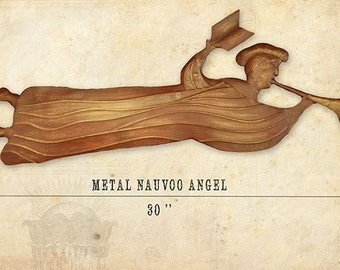 METAL Nauvoo Temple Angel - 1840 angel Moroni from Nauvoo Temple made of real Metal Mormon Art LDS