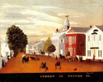 Early Nauvoo Street Scene- Archival Print
