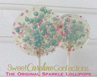 Frozen Lollipops, Snowflake Lollipops, Frozen Themed, Hard Candy Lollipops, Party Favors, Lollipops, Sweet Caroline Confections--6/Set