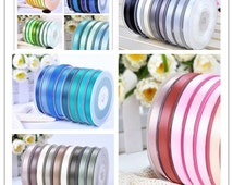 5 Sizes 100 Yards Satin Ribbon  Plain Colors Ribbon You Pick One Color (#000-#374)