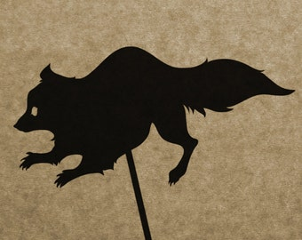 DIY Raccoon Shadow Puppet Pattern (DOWNLOAD)
