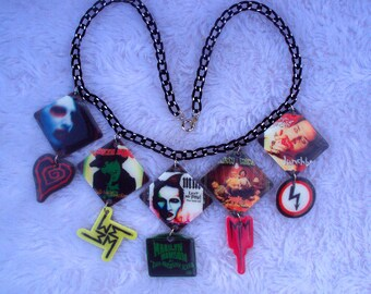 MADE TO ORDER, Marilyn Manson Necklace, Spooky Kids, strange, spooky, creepy, unique