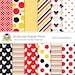 """M.Mouse Digital Paper Pack """"MOUSE PAPER""""  Red, Yellow, Black Digital Paper 12 x 12 and 8.5X11 inches for personal and commercial use"""