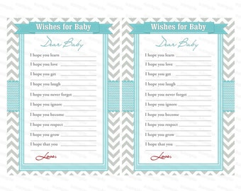 Baby Well Wishes for Baby Shower Games (591) instant download