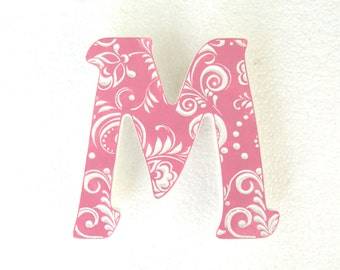 Letters M, Wall Decoration, Signage, wooden letters for nursery, decor, baby letters, wedding letter, letter gifts, fancy letter