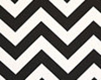 CLEARANCE SALE - 25 inch  Drapery Panels Black and White Chevron Zig Zag Print Curtains Premier Prints Window Treatments