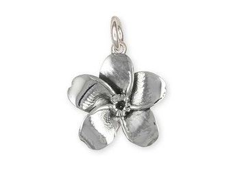 Solid Sterling Silver Forget-Me-Not Flower Charm  FMN1-C
