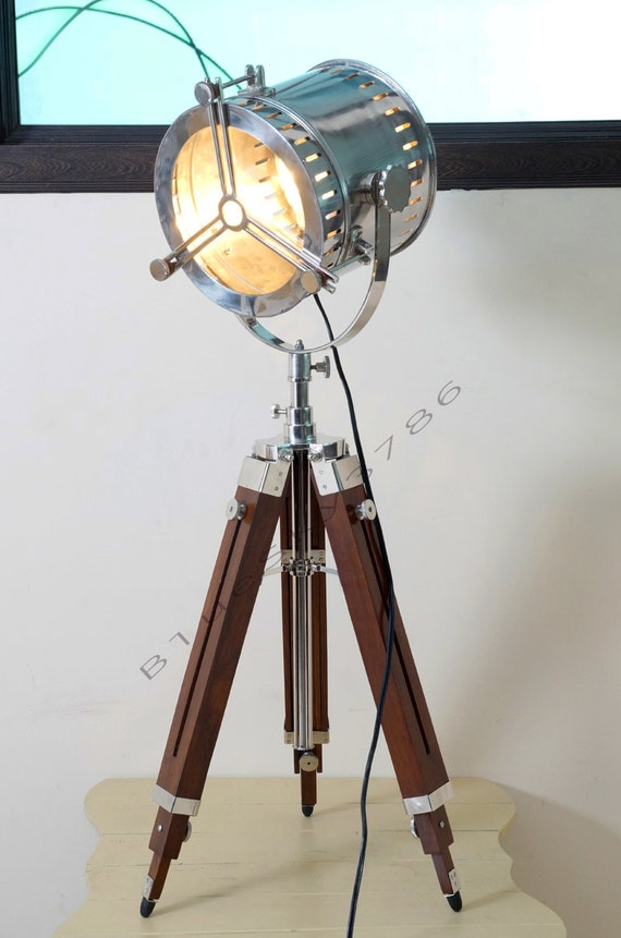 Nautical vintage industrial theater stage spotlight by for Spot on lighting and decor
