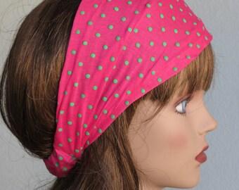 STORE CLOSING SALE Headband Woman Accessory Head Band Polka Dot Print Woman Headband