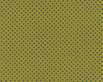 SALE Avant Garden Floral Dot Seeds in Clover by Momo for Moda Fabrics