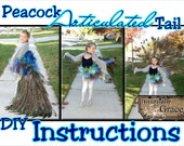 Peacock Articulated Tail Costume Instructions child or adult