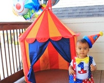 Circus / Carnival Theme - Clown Outfit Birthday baby - Toddler boy costume wedding, bring home, photo prop - any character
