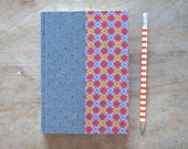 One-of-a-kind Hand Bound Datebook in Grey and Red
