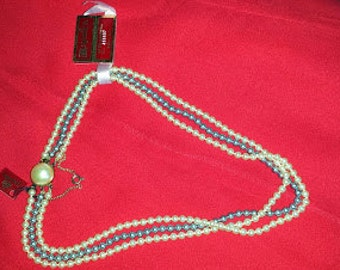 Vintage triple strand Majorica Pearl necklace