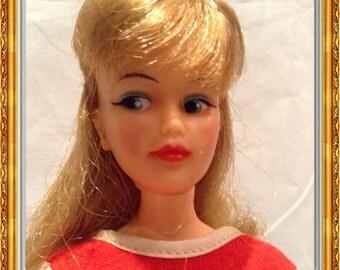 Vintage Ideal Misty doll red dress